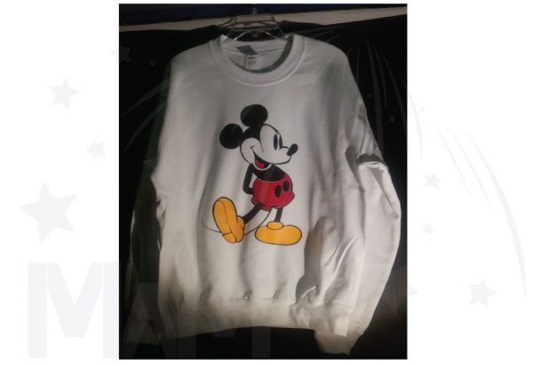 Disney white sweatshirt Mickey Mouse Old Style Design Married With Mickey