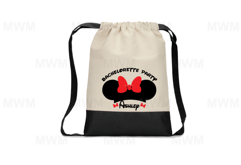 bachelorette party customized backpack minie mouse