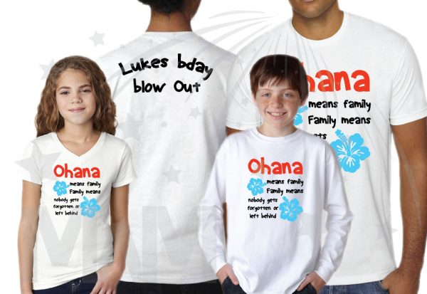 Disney Trip Family Matching Shirts Ohana means family Family means nobody gets forgotten or left behind Lukes bday Blow Out married with mickey mwm