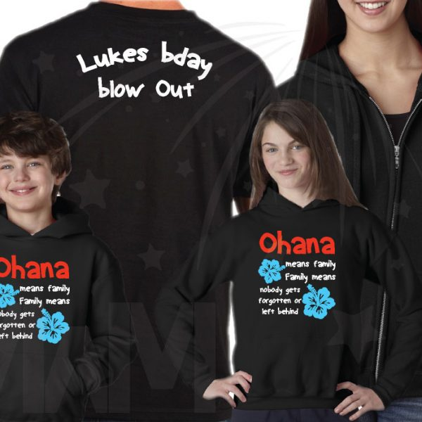 Disney Vacation Family Matching Shirts Ohana means family Family means nobody gets forgotten or left behind Lukes bday Blow Out married with mickey mwm