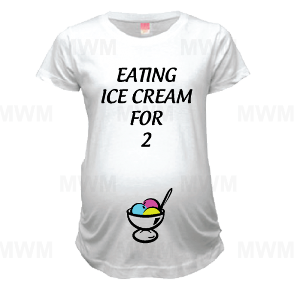 disney maternity womens shirt Eating Ice Cream For 2 Two Married With Mickey Maternity Ladies Shirt