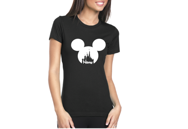 Disney Cinderella Home Ladies Shirt married with mickey
