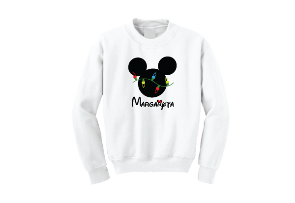 Christmas Shirt Mickey Mouse Christmas Light Bulds With Name kids shirt girls boys shirts married with mickey