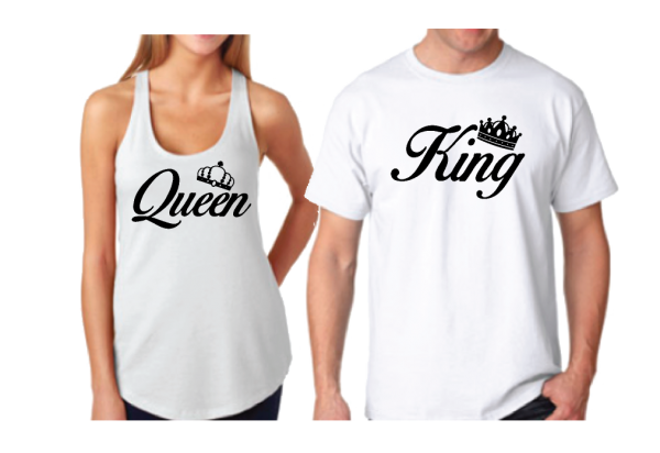 King Queen With Crowns Matching Shirts racerback tank top mens t shirt married with mickey