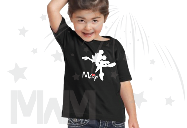 Minnie Mouse Ballerina black tshirt With Name Girls Toddler