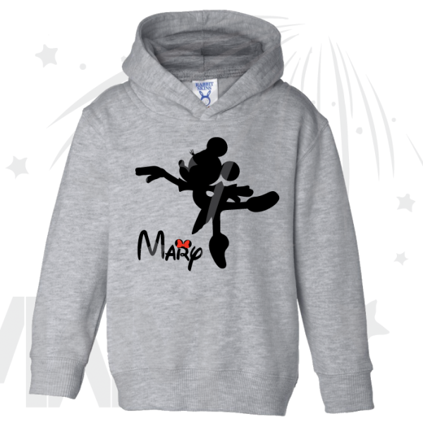 Minnie Mouse Ballerina Shirt With Name Girls Pullover Hoodie Toddlers