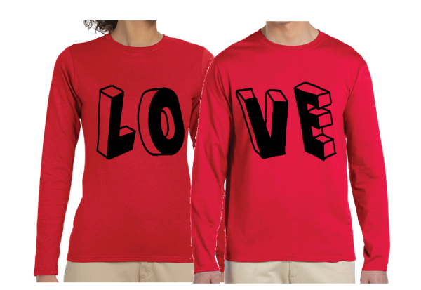 LOVE Matching Shirts Front and Back Design Choose From Any Style married with mickey