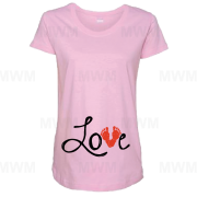 Love Baby Feet Maternity Shirt Too Cute married with mickey