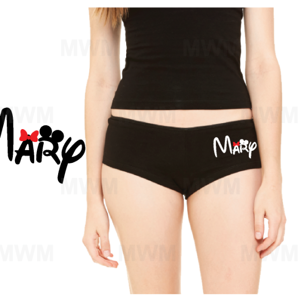 Disney Ideas Designs Ladies Shorts Printed Custom Name married with mickey mwm