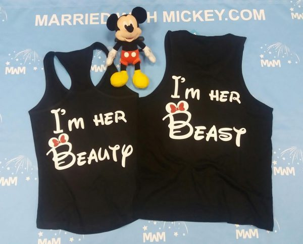 LGBT Lesbian I'm Her Beast I'm Her Beauty Matching Shirts married with mickey