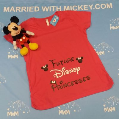 Future Disney Princess Minie Mouse Head LAT Ladies Fine Jersey Maternity Top