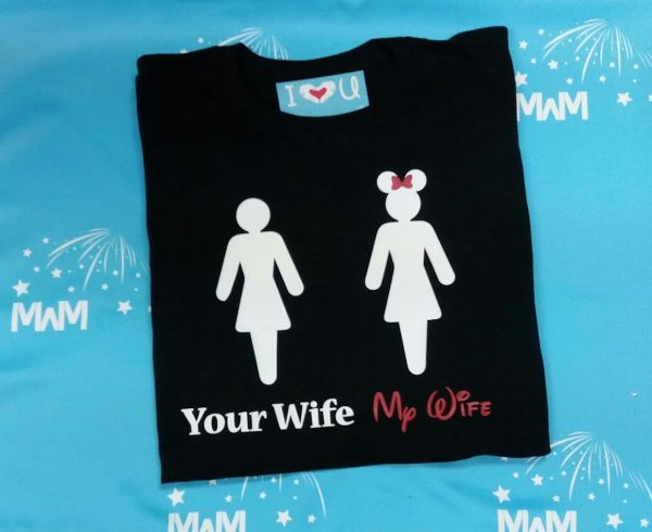 Your Wife My Wife Funny Guy Hubby Shirt married with mickey