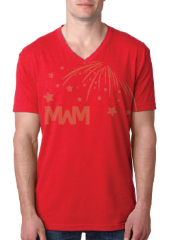 Men's V Neck T-Shirt Married With Mickey