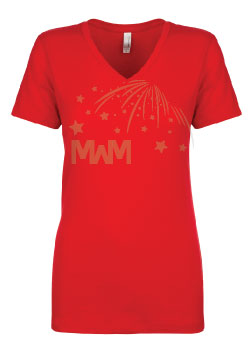 Ladies Cut V Neck T-Shirt Married With Mickey