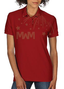 Ladie's Cut Polo Married With Mickey