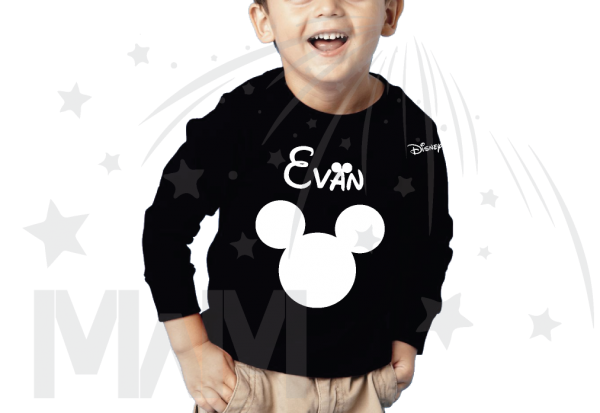 Disney Mickey Mouse Head Shirt With Custom Name married with mickey mwm