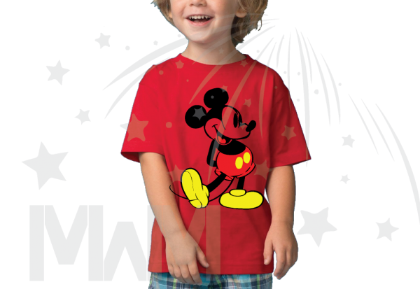 Disney Mickey Mouse Old Style Design kids red tshirt Married With Mickey