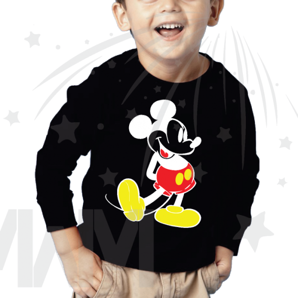 Disney Mickey Mouse Old Style Design Toddler black long sleeve shirt Married With Mickey