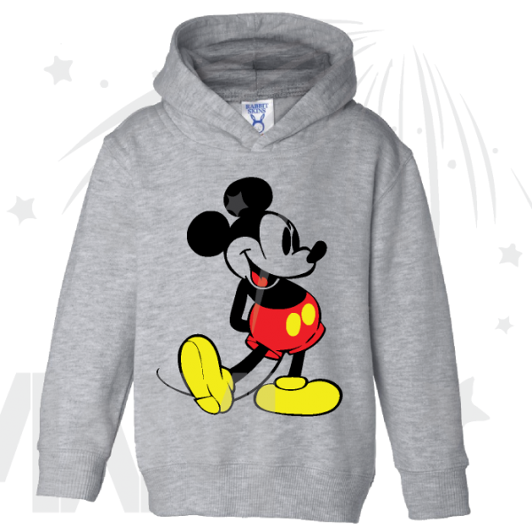 Disney Mickey Mouse Old Style Design Toddler grey pullover hoodie Married With Mickey