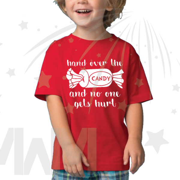 Hand Over the Candy And No One Gets Hurt Halloween Toddler Funny Shirt married with mickey