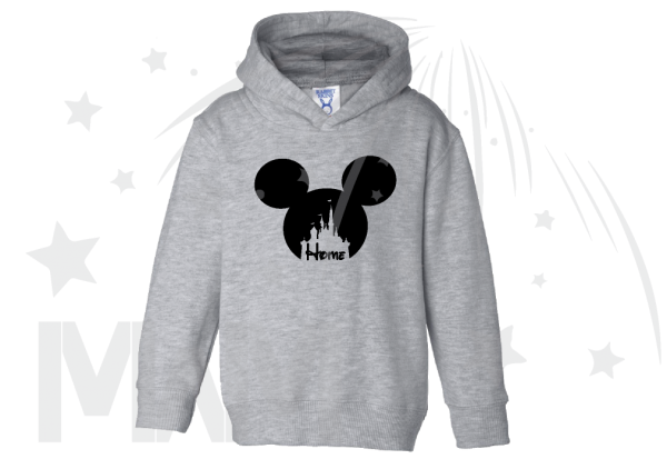 Disney Cinderella Home Mickey Head Toddler grey hoodie Married With Mickey