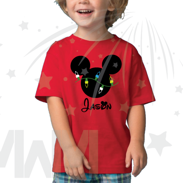 Christmas disney Shirt Mickey Mouse Light Design With Name married with mickey mwm
