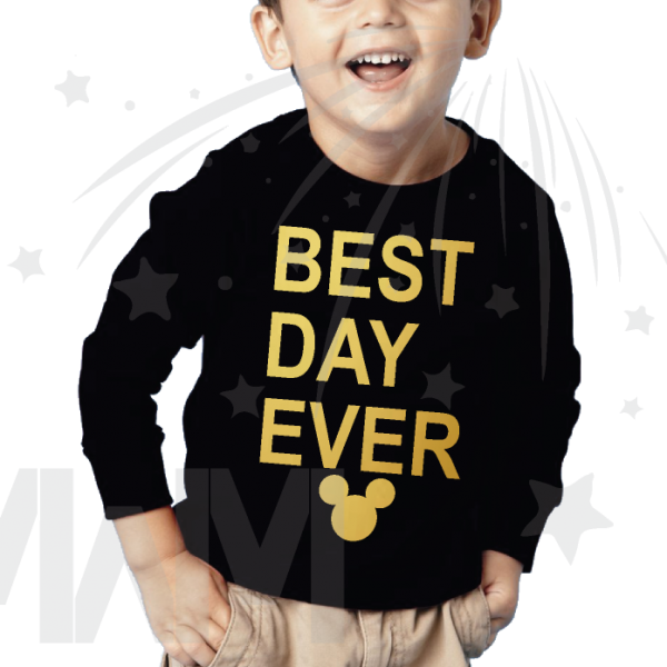 Best Day Ever Mickey Mouse Head Gold Graphics