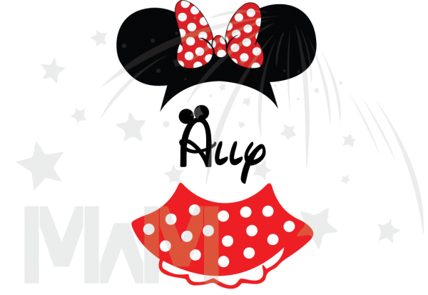 Minnie Mouse Costume Minnie Polka Dot Skirt Mickey Ears With Custom Name Toddler Sizes married with mickey mwm