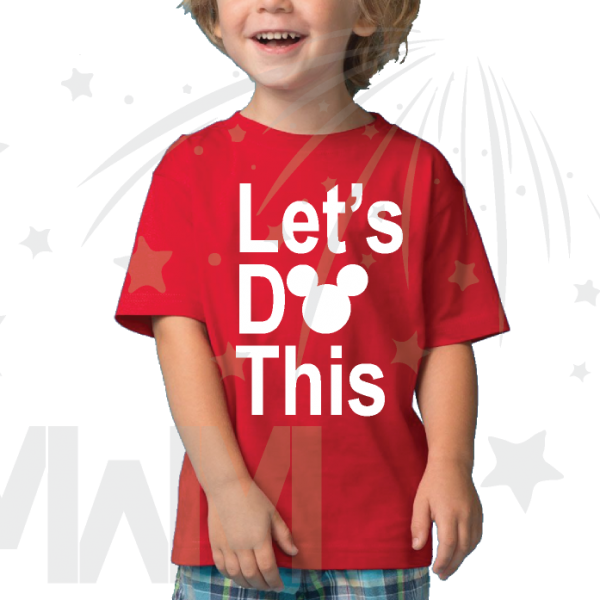 Let's Do This Mickey Head Toddler red tee Married With Mickey