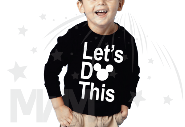 Let's Do This Mickey Head Toddler black long sleeve tshirt Married With Mickey