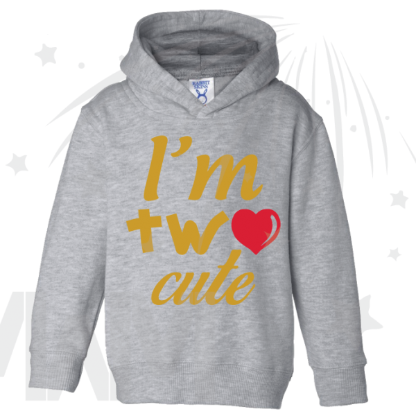 I'm Two Cute Shirt for 2 Year Old Toddler Size Gold Design With Red Heart married with mickey mwm