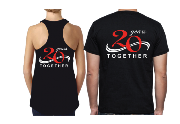 Celebrating 2nd Honeymoon 20 years Together black tshirts married with mickey