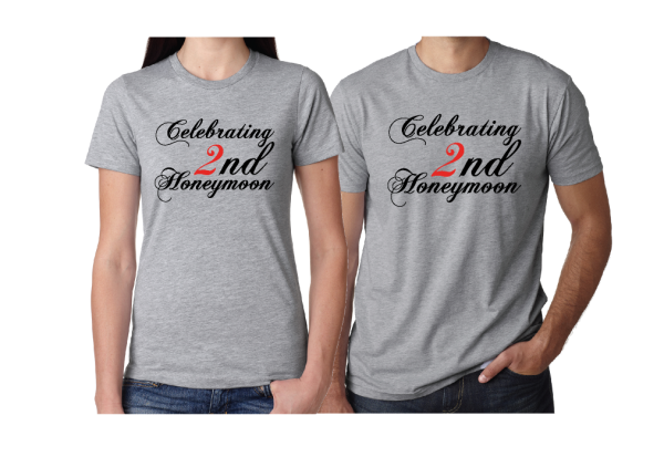 Celebrating 2nd Honeymoon 20 years Together grey tshirts married with mickey