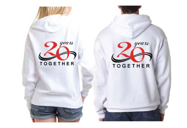 Celebrating 2nd Honeymoon 20 years Together white hoodies married with mickey