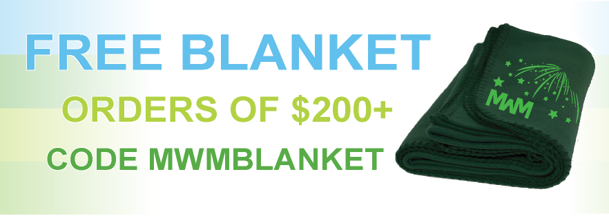 Free Blanket with MWM logo and coupon code