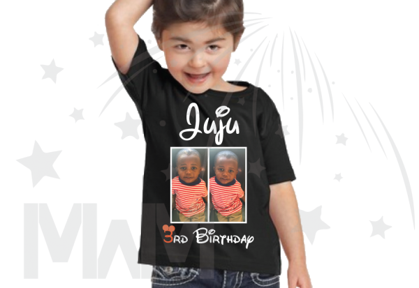 Juju 3rd Birthday Picture Of Juju Disney Font black tee married with mickey