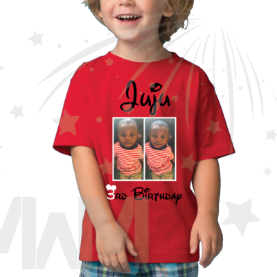 Juju 3rd Birthday Picture Of Juju Disney Font Toddler Size Red Tshirt