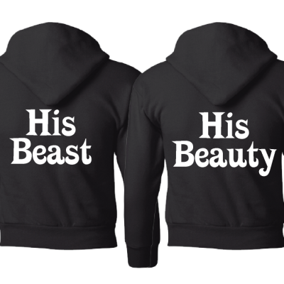 LGBT Gay His Beauty His Beast Matching Shirts black hoodies jumpers pullovers
