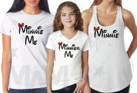 3 and/or more Minnie Mouse Minnie Me Minnier Me Matching Family Shirts married with mickey