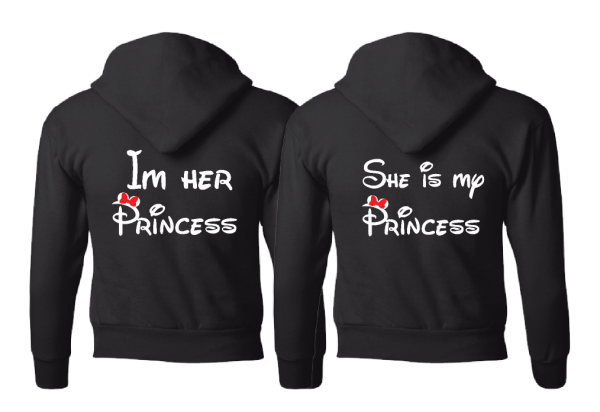 LGBT Lesbians Love Soulmate Shirts Kissing Minnie Mouse I'm Her Princess She's My Princess married with mickey ladies pullover hoodies sweatshirts jumpers