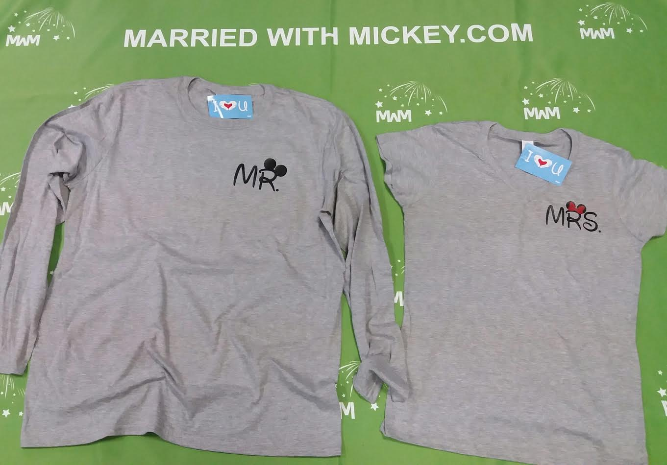 Cute Mr Mrs Matching Shirts, Minnie Mouse Polka Dots Bow, Mickey Mouse Pants