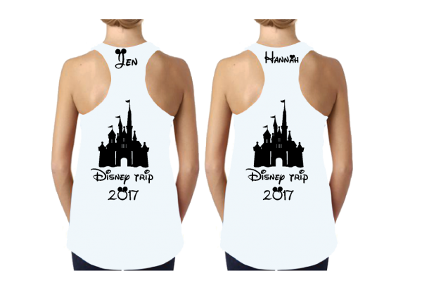 Family Matching Disney Shirts For Mom and Daughter, Disney Cinderella Castle, Family Trip 2017, Vacation, Custom Names married with mickey