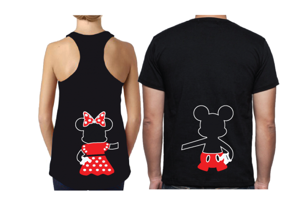 Oh Mickey You Are So Fine, I'm Mickey, Mickey Minnie Mouse Disney Cute Holding Hands married with mickey black mix and match ladies tank and mens tshirt