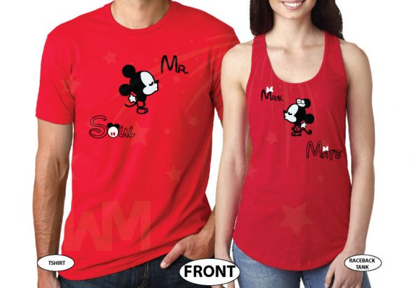 Mr Mrs Soul Mate Hey Mickey You're So Fine Minnie You Blow My Mind Cool T-Shirts, Tank Tps, Hoodies and more married with mickey red tshirts