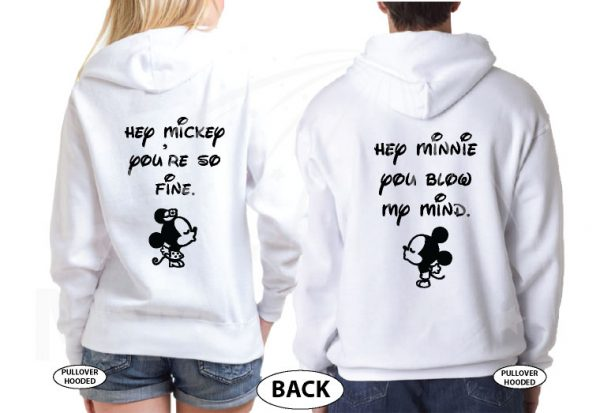 Mr Mrs Soul Mate Hey Mickey You're So Fine Minnie You Blow My Mind Cool T-Shirts, Tank Tps, Hoodies and more married with mickey white hoodies