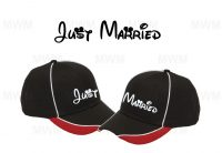 LGBT Gay Matching Couples Hats for Mr, Soul Mate, Prince, Mickey, Head, Just Married, self-adhesive closure back married with mickey
