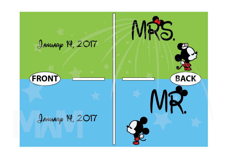 Mr and Mrs Disney Cute Couple Matching Shirts With Your Wedding Date And Kissing Mickey And Minnie married with mickey