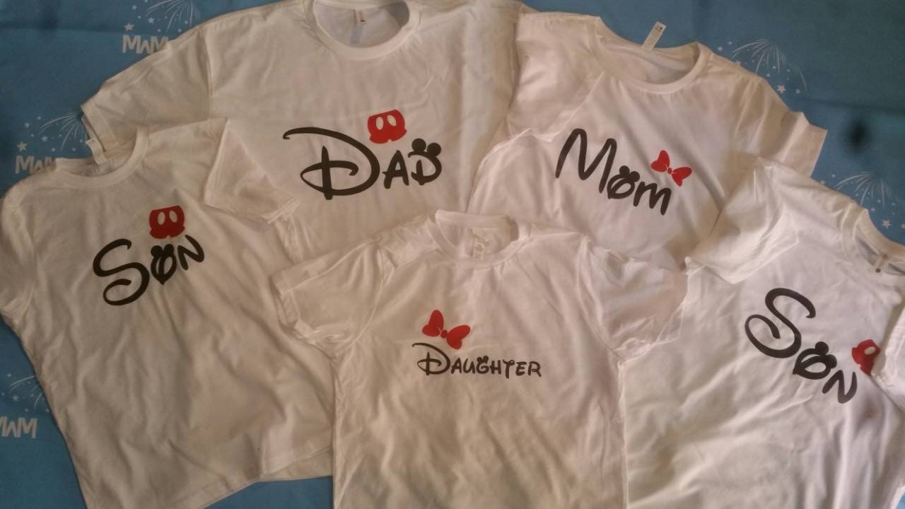 Mickey And Minnie Couples Shirts Family Matching Disney...