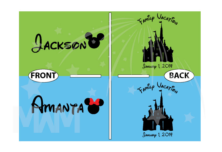 Mickey Minnie Mouse Head With Names Disney Cinderella Castle With Custom Date married with mickey