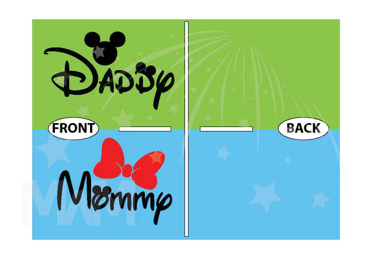 Daddy and Mommy Disney Family Shirts married with mickey